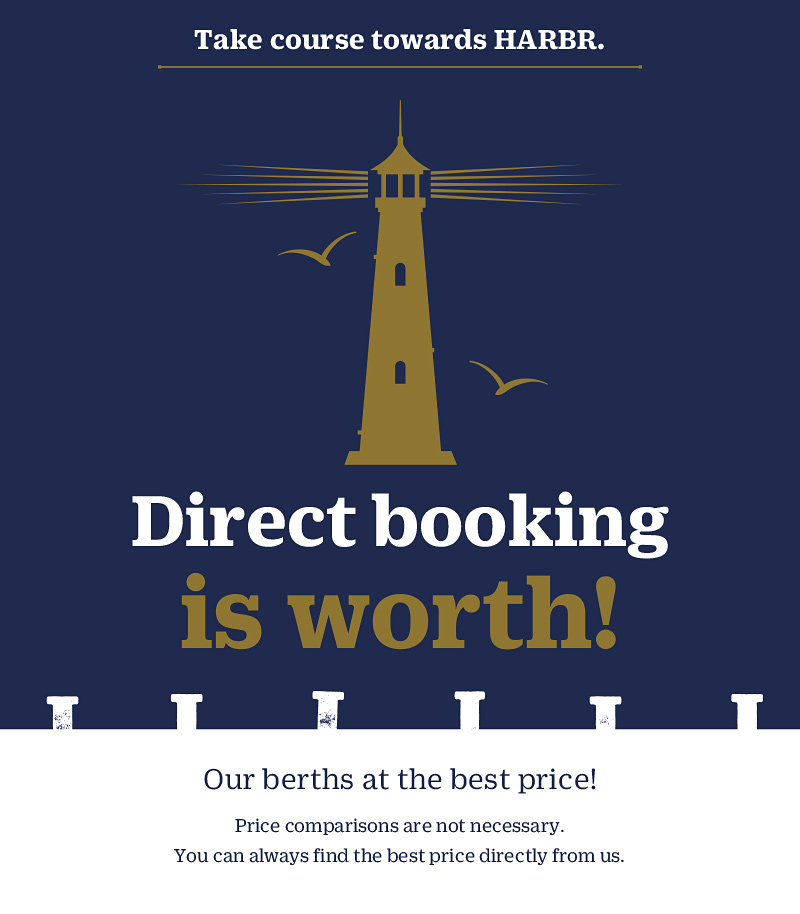 Book directly at HARBR and save money